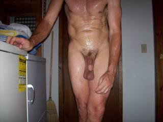 Low hanging balls after a sauna.