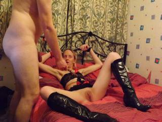 woww love the pose, the boots, and that pussy needs a serious licking