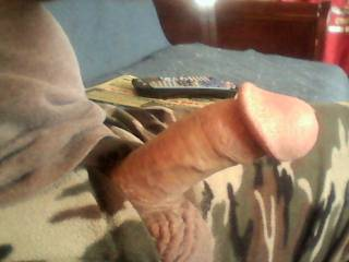 I would love to suck on your cock head tell you cum I like it do you like my cock