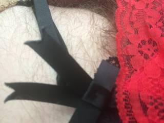 Red panties and suspenders x