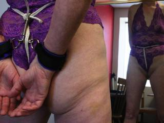 Seeing how a crotch rope feels.