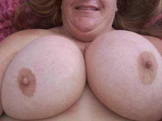 My big tits waiting for a load of cum