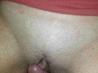 Rubbing my cock on her clit until she cums