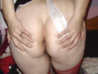 by request showing you my arse