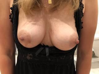 Her tits under night dress :) so soft...
