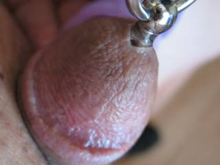 My cute little cock has something inside and he is trying to keep it there as long as he can.  It\'s really in there.