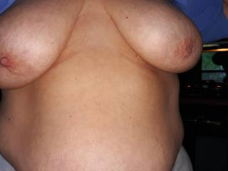 Who likes these nice big titties? Love to see a nice dick cumming on them!