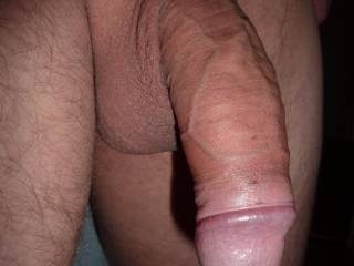 OMG what a great cock!!! I want to lick this delicious bulging head to taste your precum and to make you big and hard... I want to suck on it while playing with your big cumfilled balls to preapare your cream... can I get your creamy load??? I need it so bad!!