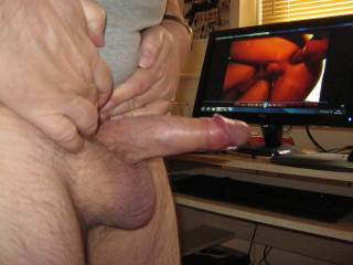 wanking while watching some HOT bisexual porn