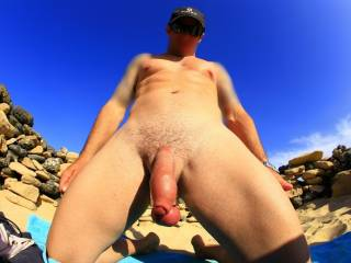 Wow I love this picture I would love to be under you sucking your beautiful balls! Angel