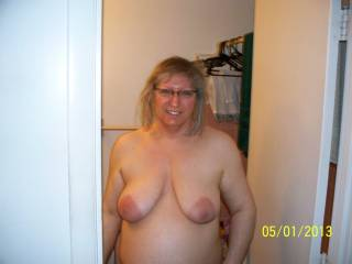 Wow love your tits and lovely nipples mmm!!