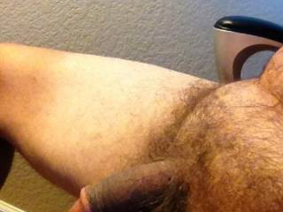 Love to show my small hairy cock.  Zoig does make it grow though.
