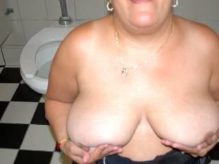 Being naughty in the men\'s room