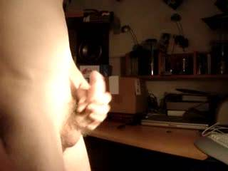 Keep on watching movies...I like to watch u stroking your nice hairy curved cock !!