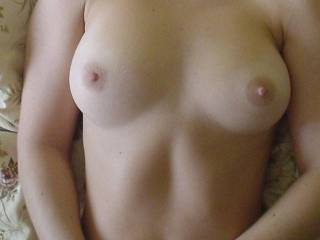 so perfect tits, lucky man with her. tell me is she prefer big cock?