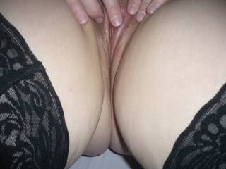 flicking my clit waiting for you to cum on me