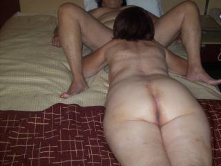 Oh yes two sweet hot wet pussies and look at her thick big ass Mmmmmmmmm I know that pussy taste good had some of her my self Mmmmm