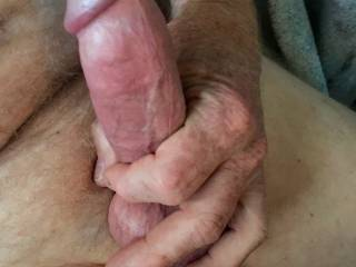 I was told a sexy shot was to grip your cock around the base and cup your balls.