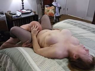 Ohh... I love a man\'s tongue between my legs. It feels so good when hubby eats my pussy. Watch me moan and groan as my pink lips feel like they are in heaven!