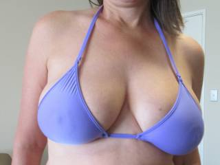 What do you think of my new bikini top?