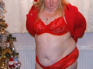 Love to wear my red lingerie, so festive don\'t you think?