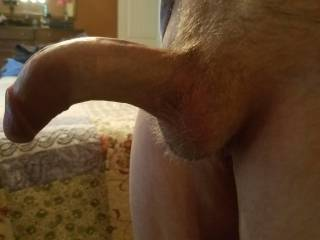 My gay curved bent penis