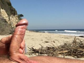 I love being nude at the beach.  Its even more fun when someone sits close to watch