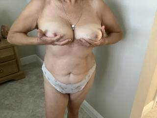 Wife showing breasts