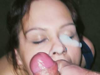 She  said that's  the thick cum facial she ever had