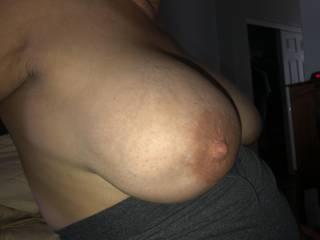 Nice big boobs of my 50yr wife