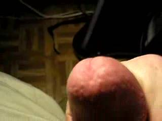 Wonderful, spurting orgasm! Love that you use your cum as lube and keep on going for more pleasure!