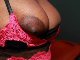 Luv those big breast with pointy nipples, you are delicious, luv to rub my dick head with those nipples and give you my cum on them.
