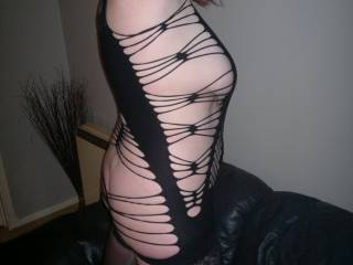 Showing hubby whats on offer any one dare to take me out dressed like this if so where would you take me?