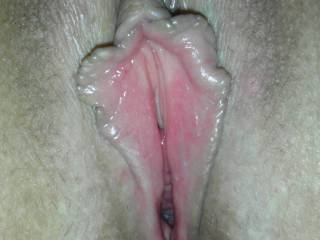 MMmmm...I love it...would love to lick you up and down through your sweet hot wet dripping pussy lips with my tongue....licking little circles around your hard erect clit with the tip of my tongue....pulling each pussy lips at a time outwards and sucking them into my mouth....darlin....