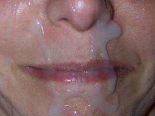 i love the feeling of hot cum on my face