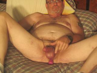 Vibrators work on guys, too. Are there any women that like to see this kind of thing????