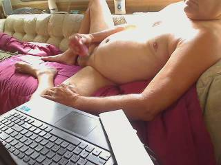 Porn watching, Lazy  jerking off, Wanta help me cum and taste my load??? Guys, Girls, ?