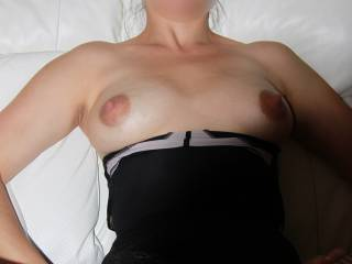 sexy as hell id love to be stood at side getting hand job off you while hubby fucks you and me covering your sexy breast at same time he fills you with his cum x