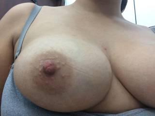 selfie close of my tit