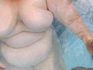 Love those floating tits. Anytime her hand is on my balls is a good time.
