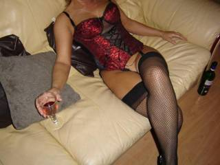 probably my all time fav outfit. you push my buttons with this one(mrs bigmo has one very like it.....love hot women)
