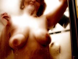 Magnificent luscious tits!!  Luv to get all slippery with you in the shower and sucking those beauties! MMMMMMMMMMMMMMMMMMMMMM