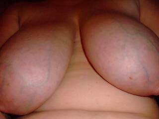 Perfection their shape, size, lovely areola & nipple best of all your veins are a real turn on for me I don't know why Schalala I'm a big fan Thanks for sharing