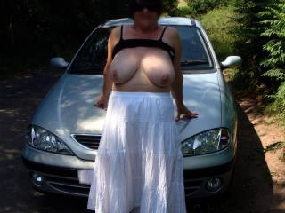 damn she has some fine tits.....