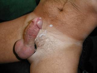 Mmmmm, I'd love to gobble it up and eat it and its cum. Can I lick that delicious cum up and swallow it?  That's a hot  sexy picture.  I wouldn't want to share it with anyone.  Mrs. K