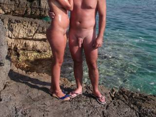 You are a great couple and we think we would like to fuck with you. I would like to kneel in front of your hard cock and love to see you come. Otherwise i like to see how my man is busy with Mrs. M Thx for the great pictures and croatia ist always fine :-)))