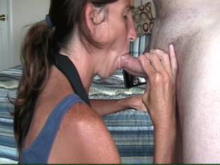 She looks so sexy sucking cock. Lucky guy. She looks amazing.
