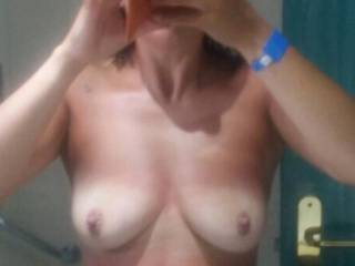 White tits should of gone topless