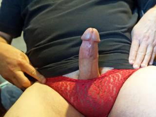 Zoig is not my whole life by any stretch of the imagination, but I sure do have a lot of fun here, especially in the morning. It's a great place to share my interests, especially about my panty fettish and bisexuality.    How you like my red panties?