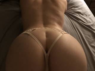 This is my wife. She loves to see fat cocks cumming on her... photo or even video. Show my wife how good you would fuck that perfect ass!